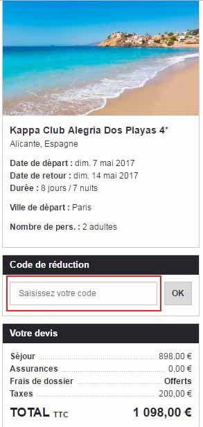 Ajouter un code promo Kappa Club