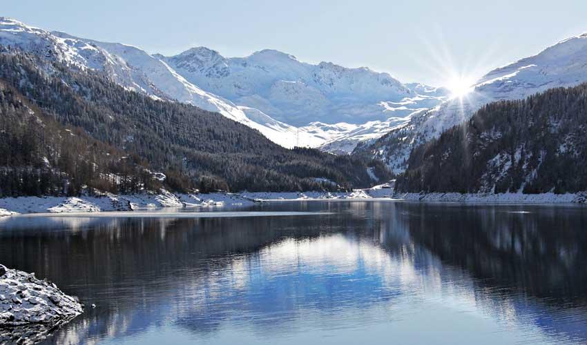 Neige sur une montagne en France avec Odalys