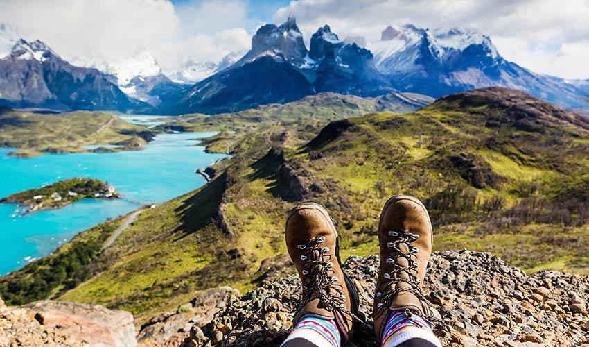 Randonnée à la montagne