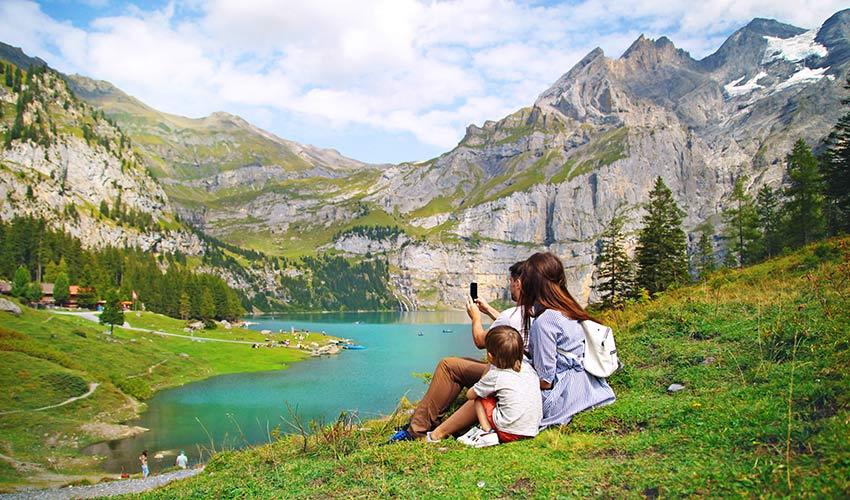 Vacances d'été en famille à la montagne