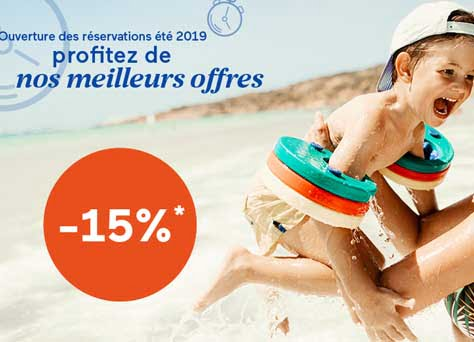 Early Booking Odalys-Vacances : -15% cet été