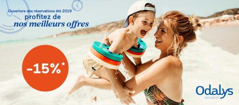 Early Booking Odalys-Vacances : -15% cet été