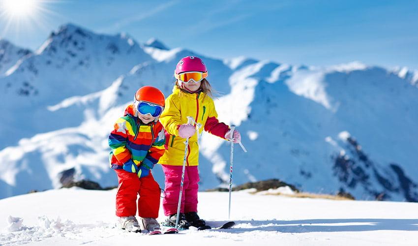 Enfants skieurs à Valfréjus
