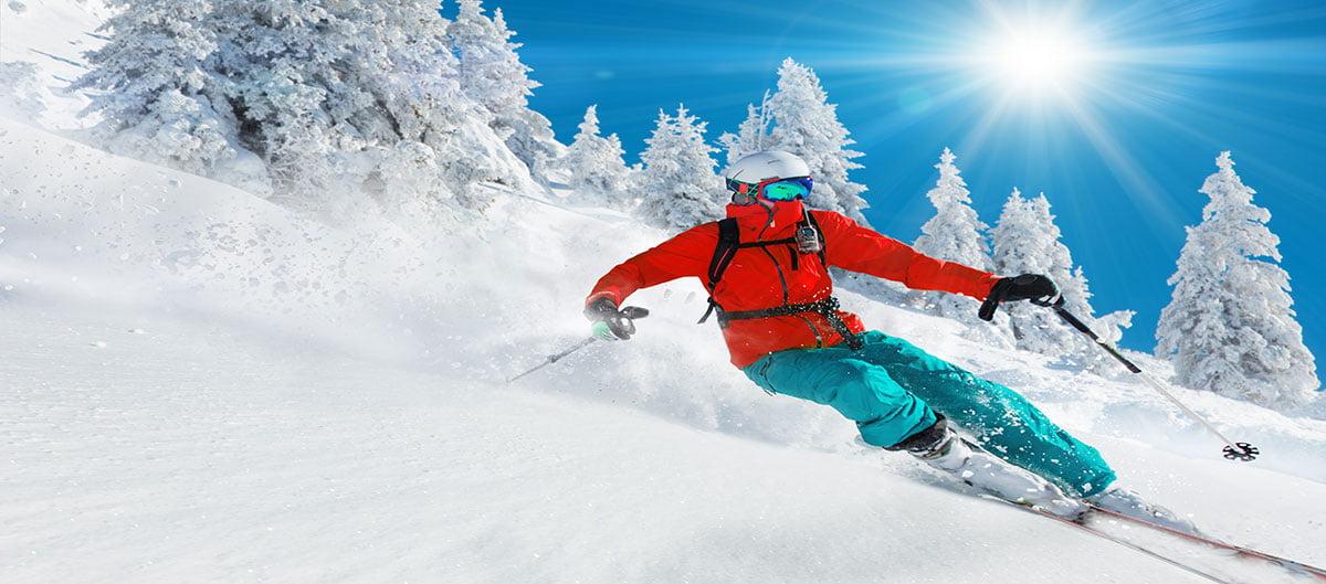 Skieur à Valfréjus