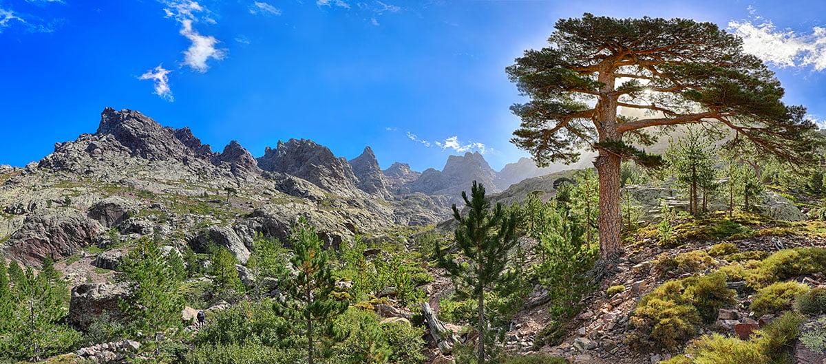 Les paysages corses lors d'une randonnée