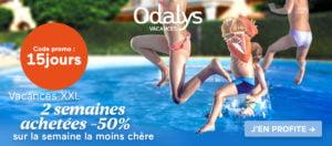 Offre promo Odalys-Vacances : -50% de remise sur la semaine la moins chère