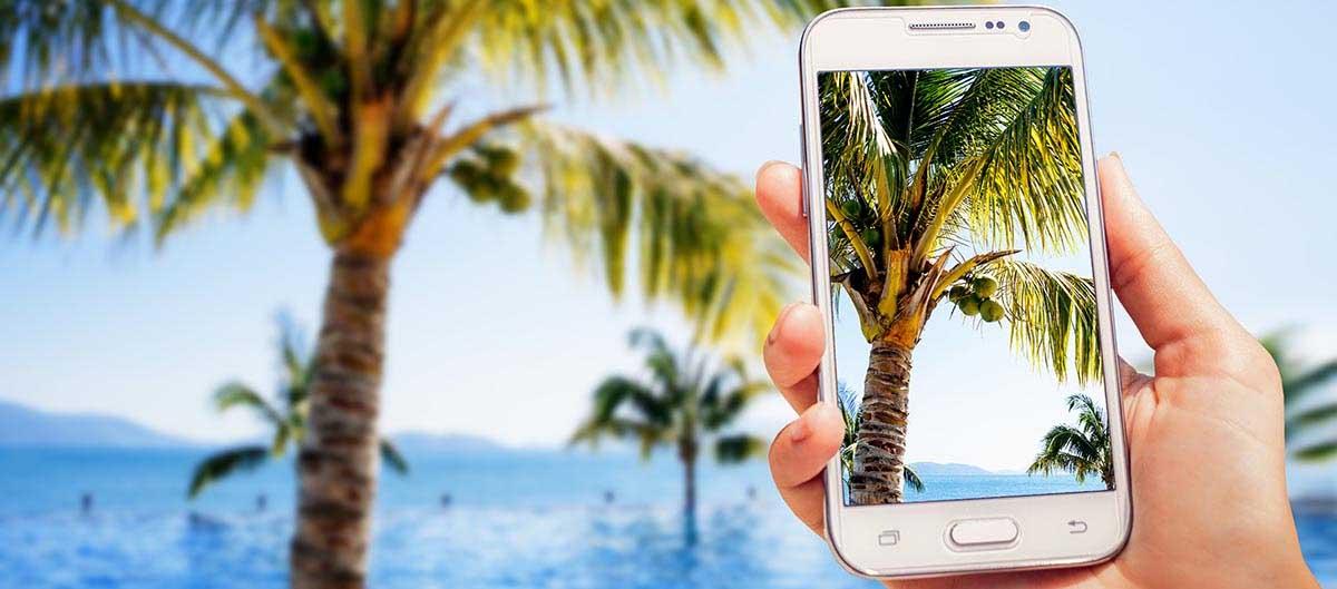 Mobile en vacances
