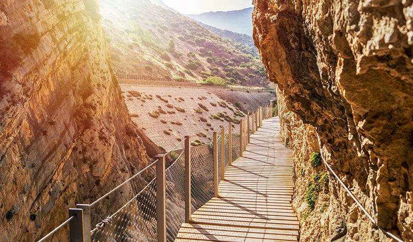 Le célèbre Caminito Del Rey en Andalousie