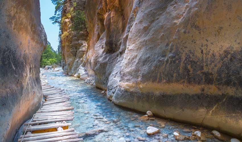 Les gorges de Samaria, en Crète