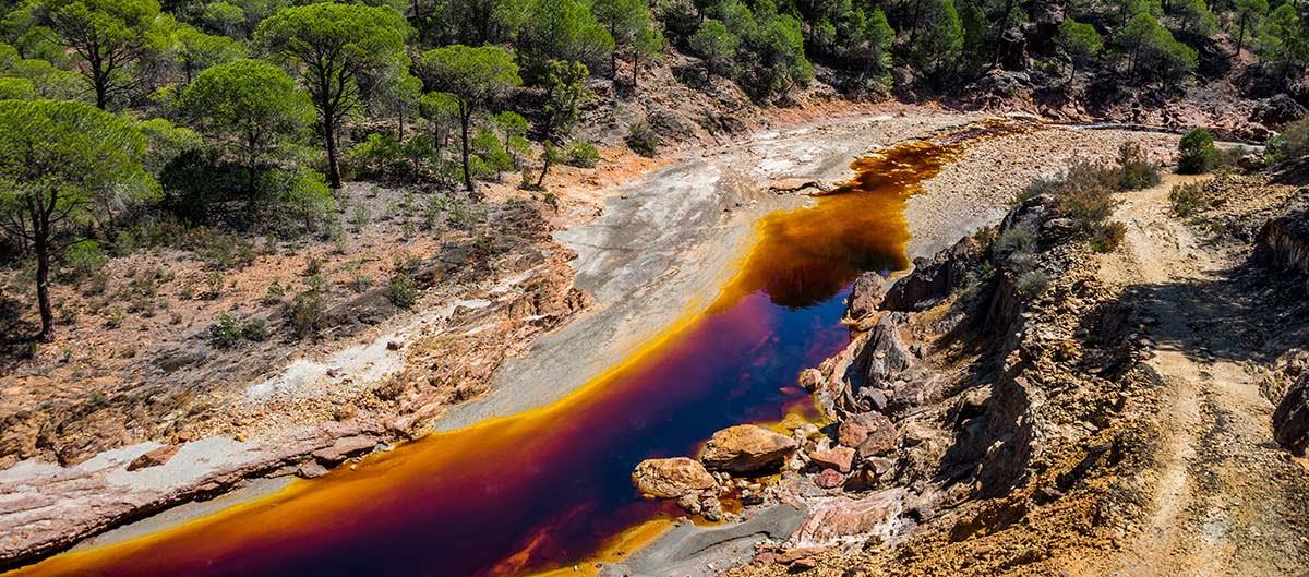 Río Tinto à Huelva en Andalousie