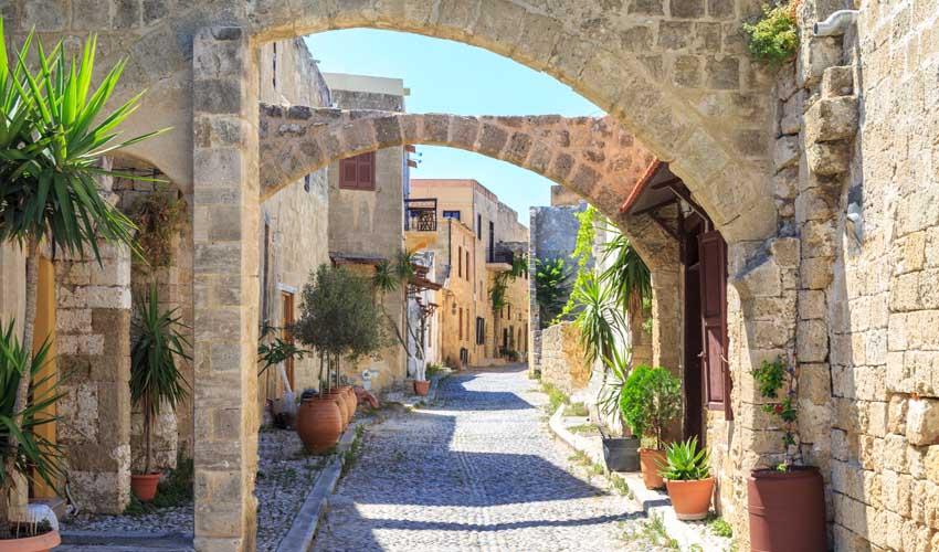 Villages à Rhodes, balade en famille
