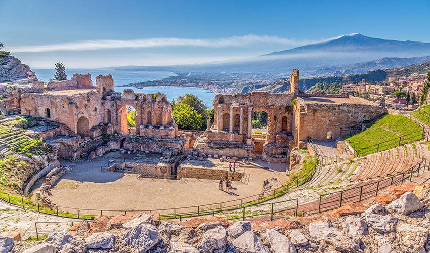Taormina et sa vue spectaculaire sur la Sicile