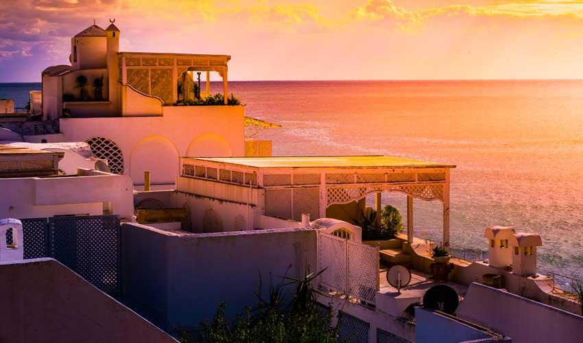 Coucher de soleil à Hammamet, Tunisie