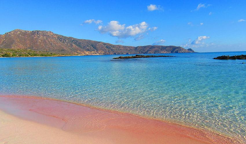 Le lagon d'Elafonissi pour une randonnée au bord de la plage