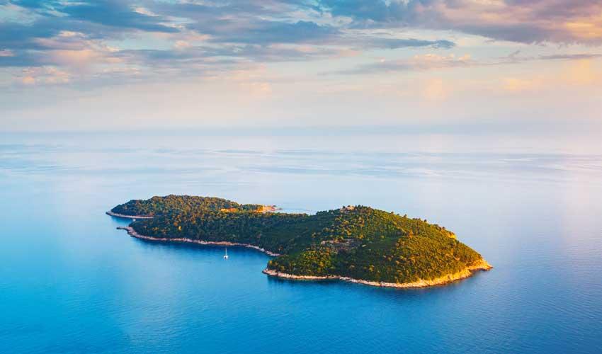Île de Lokrum près de Dubrovnik