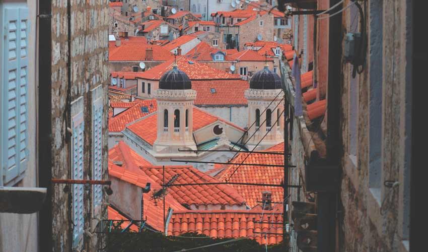 Rues de Dubrovnik près des clubs vacances