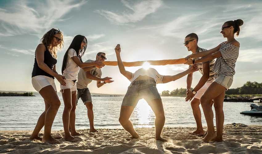 KappaClub : jeux sur la plage