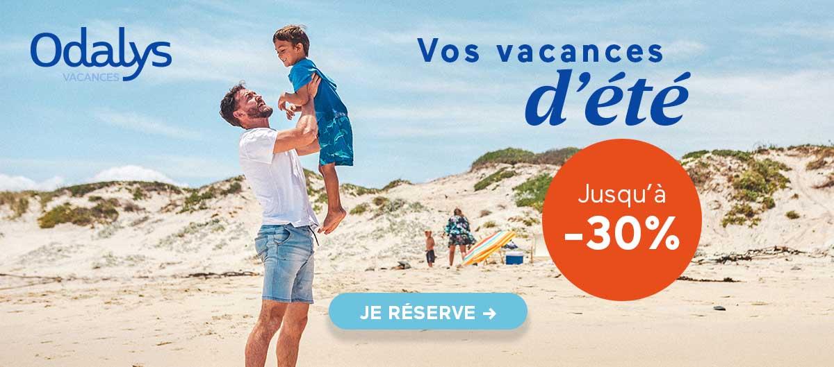 Promotion Odalys sur les vacances d'été
