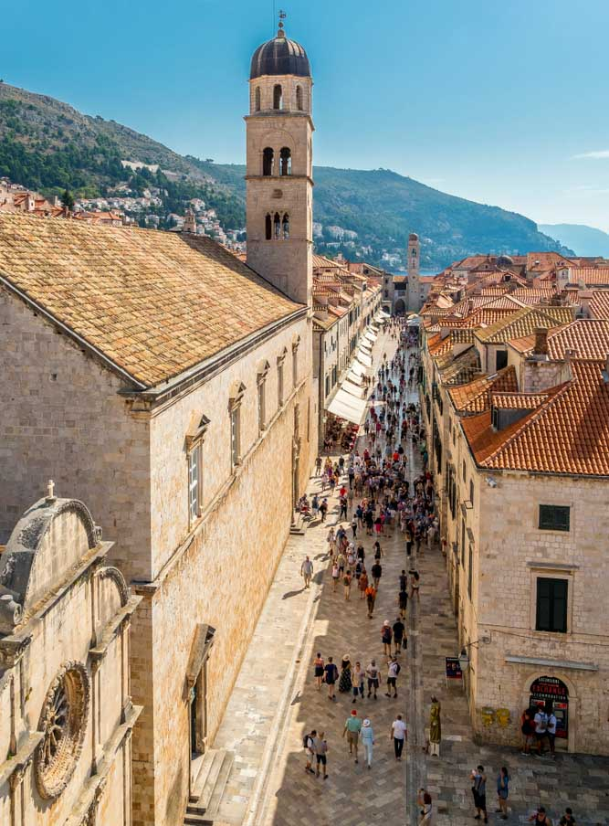 Stradun à Dubrovnik, Croatie