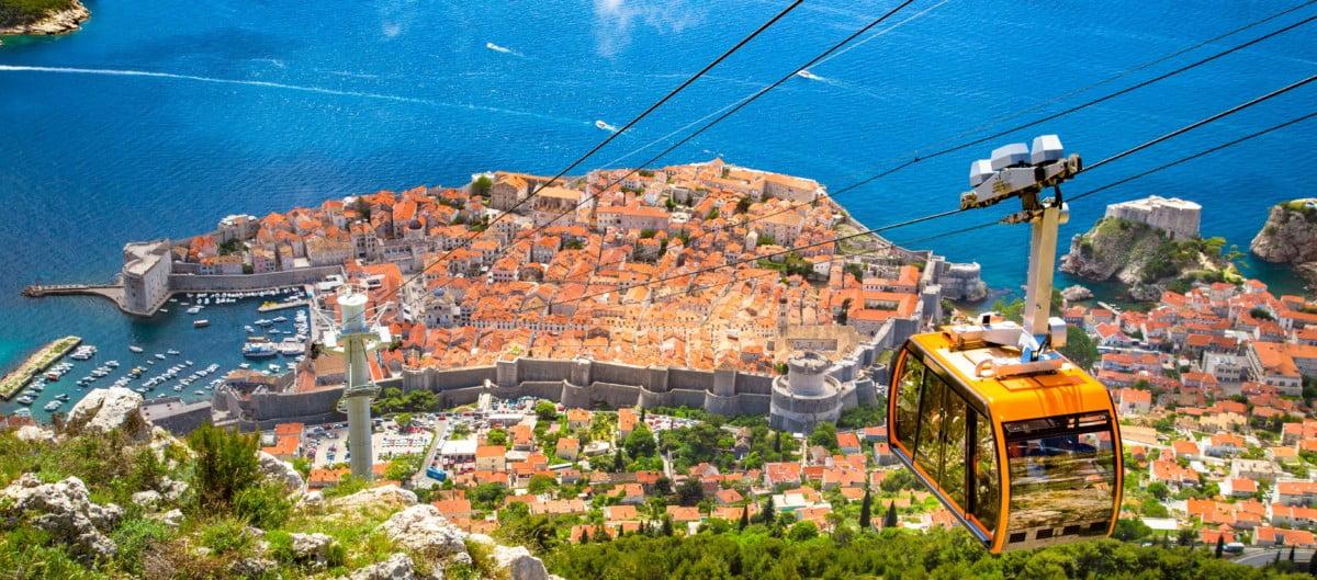 Croatie Dubrovnik vue de haut téléphérique