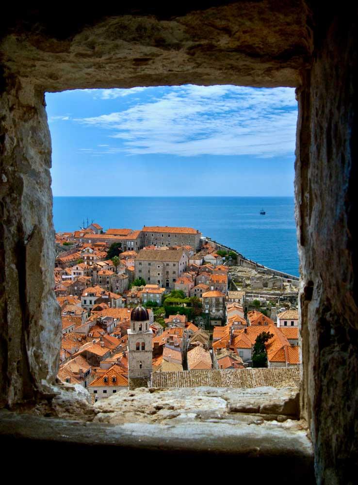 Vue de Dubrovnik, Croatie