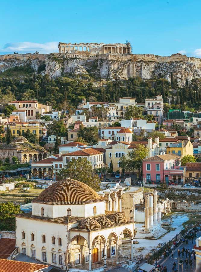 Athènes : vue sur l'acropole en Grèce