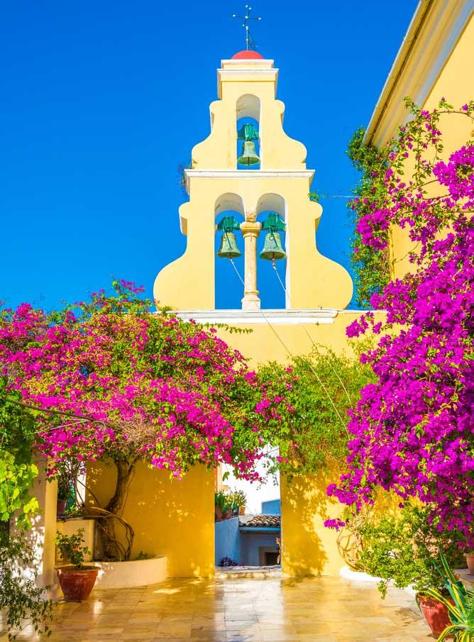 Monastère à Corfou, Grèce