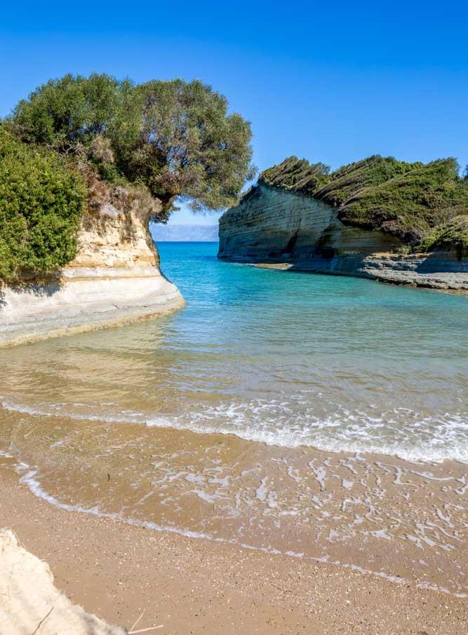 Corfou en Grèce : la plage