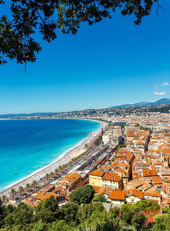 Baie des anges à Nice
