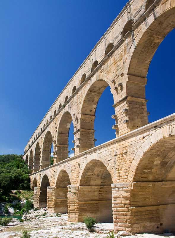 Pont du gard dans le Sud Est de la France