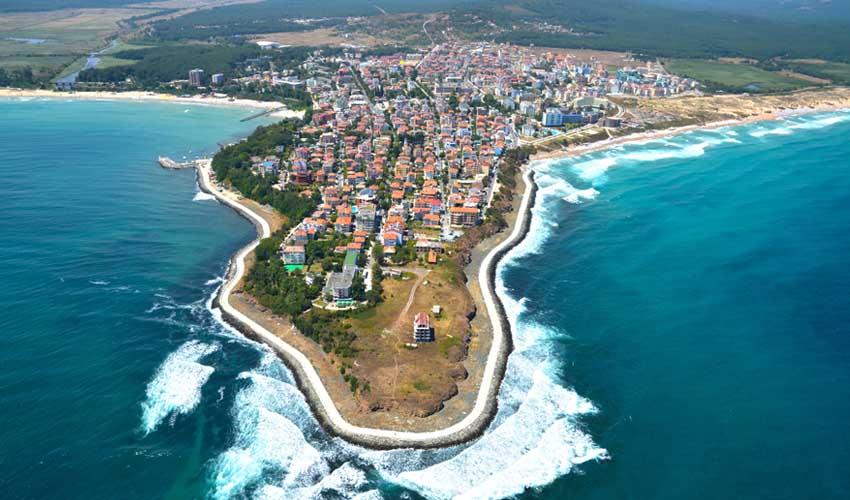 bulgarie top a faire primorsko vue aerienne plage