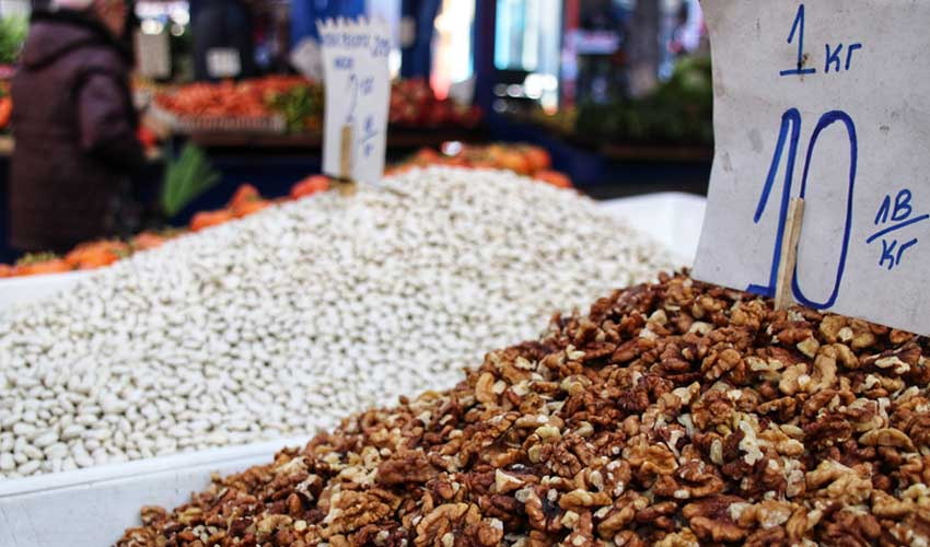 BULGARIE top pas cher acheter au marché local graines marché Sofia