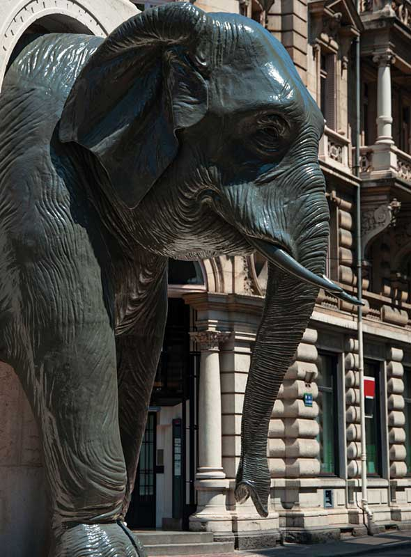 Fontaine éléphants Chambéry