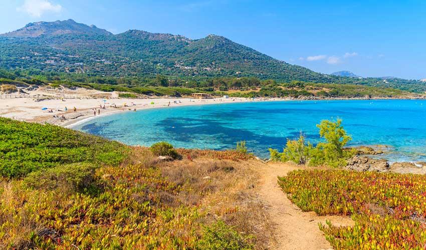 Plage dans le désert des Agriates en Corse