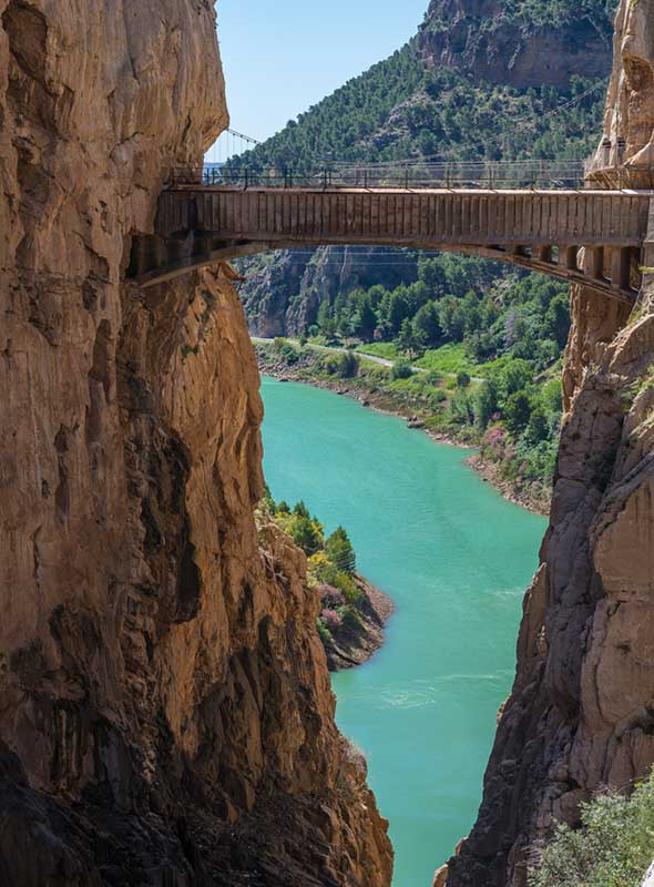 Pont au Caminito del Rey, Espagne