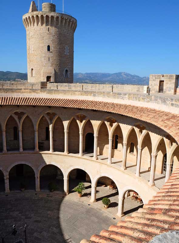Château de Bellver, Palma, Majorque, Espagne