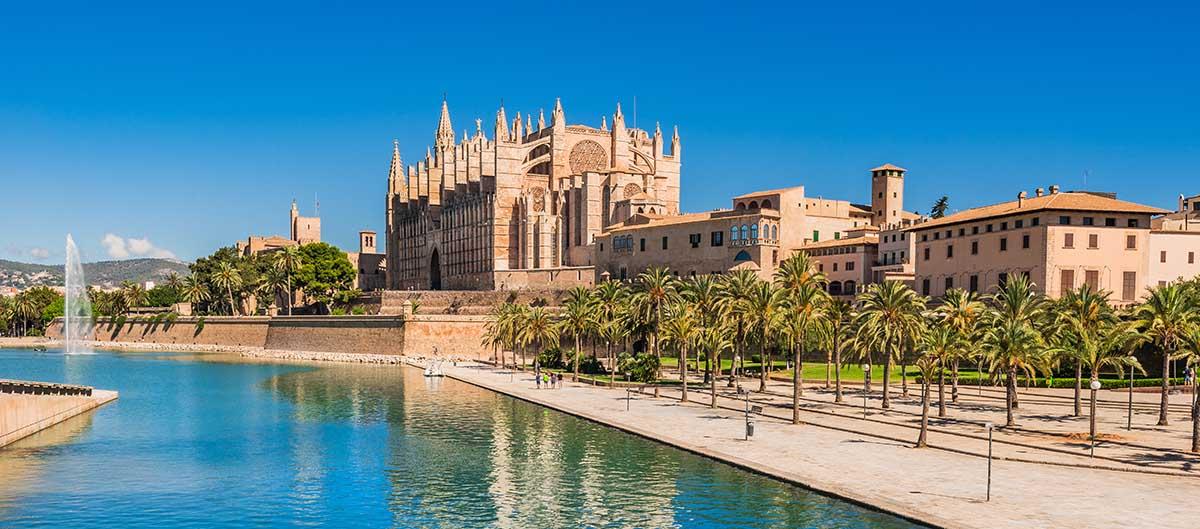 Cathédrale et port, Palma, Majorque, Espagne