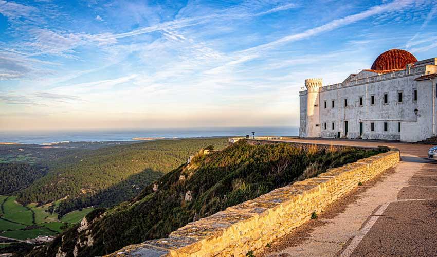 Vue depuis Monte Toro, Minorque, Espagne