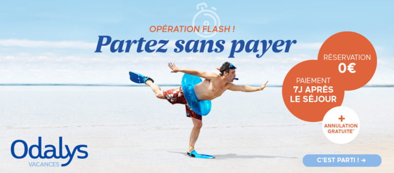 Offre Odalys-Vacances : payez à votre retour de vacance