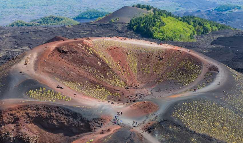 Etna, volcan, vue du ciel, Sicile