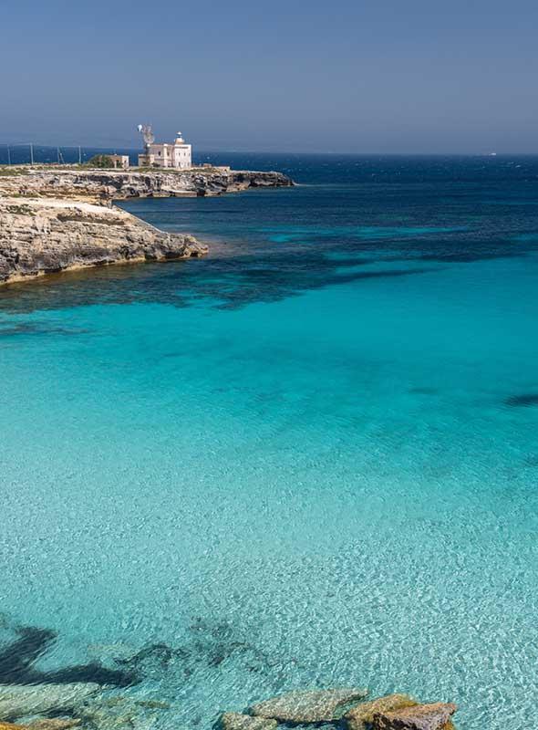Favignana, Sicile, iles Egades, mer