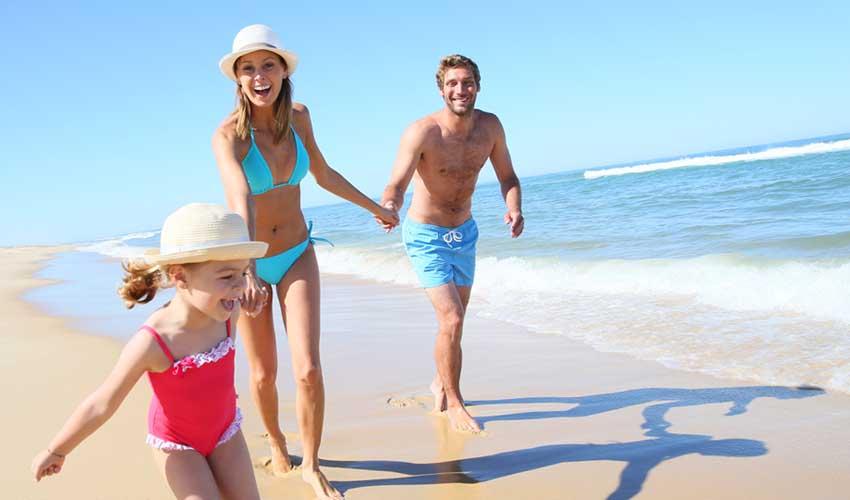 vacances mileade plage avec famille