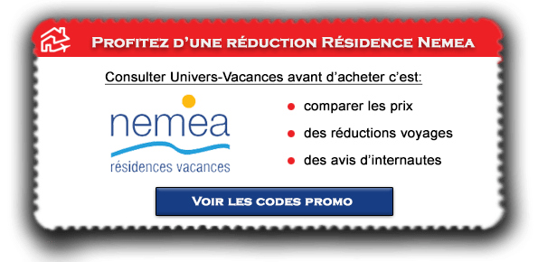 Code promo Nemea valable sur les Résidences Nemea