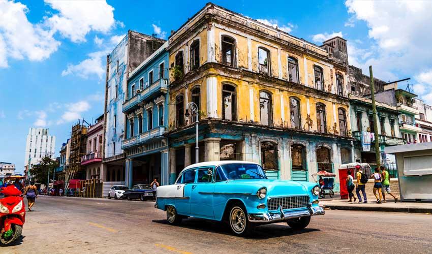 cuba la havane centre historique colonial voiture de collection