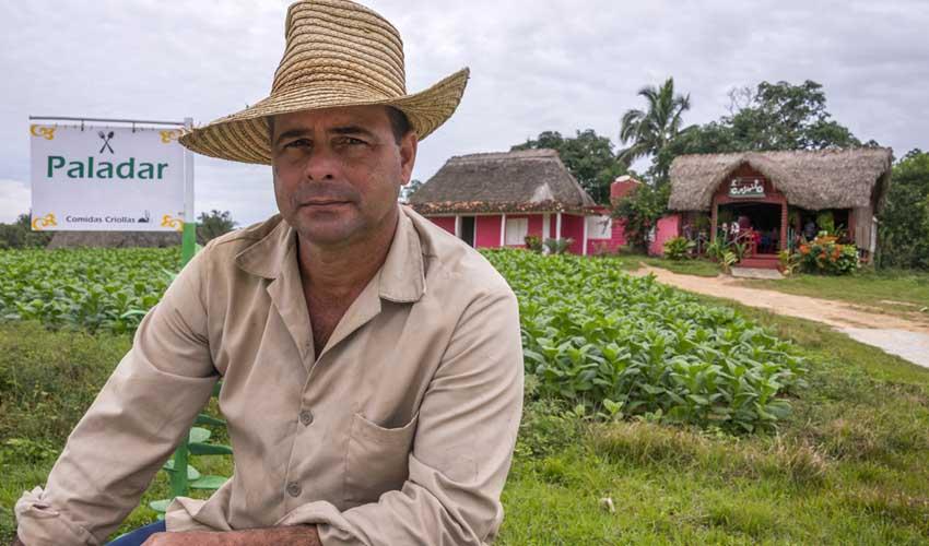 Cuba paladares manger chez l'habitant homme qui pose