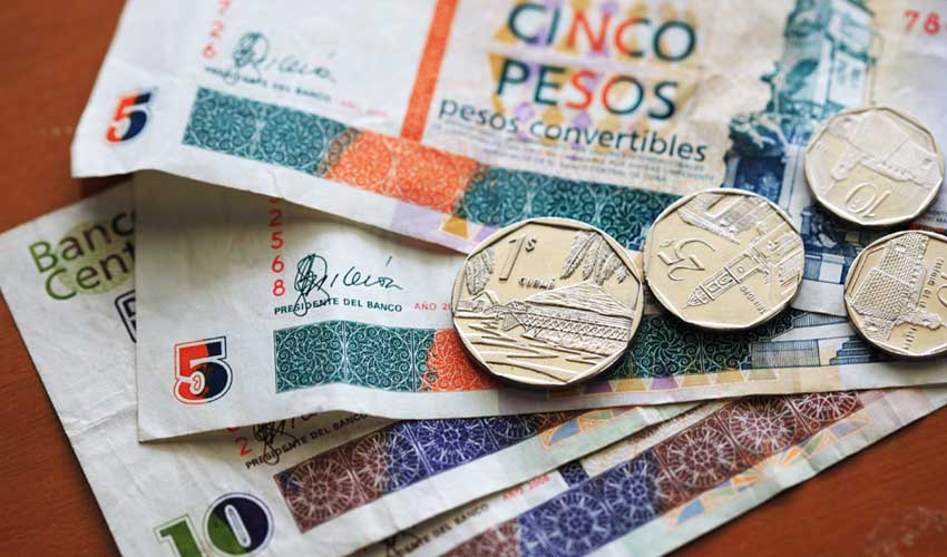 cuba pesos convertible change monnaie cubaine