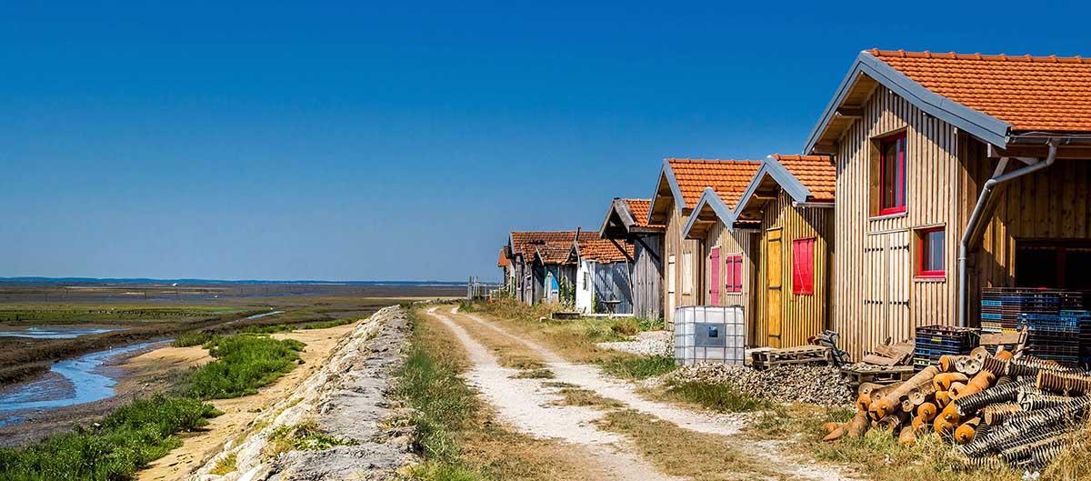 Cabanes de pêcheurs à Arcachon, France