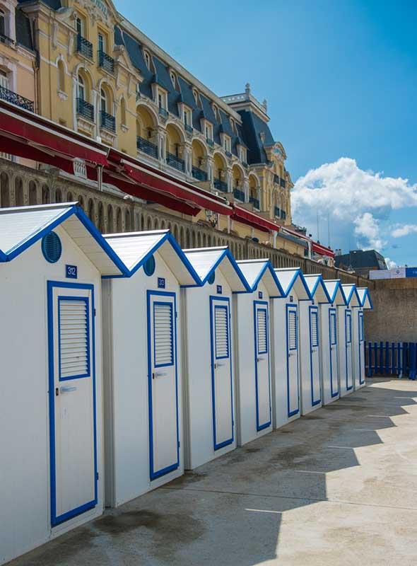 Cabines de plage, Cabourg, France