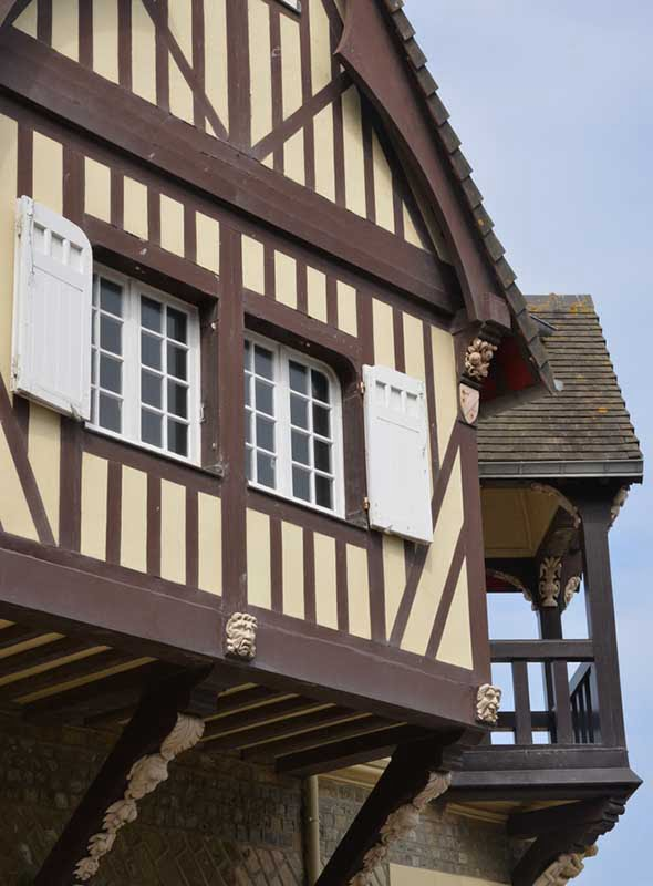 Maisons à colombages, Cabourg, France