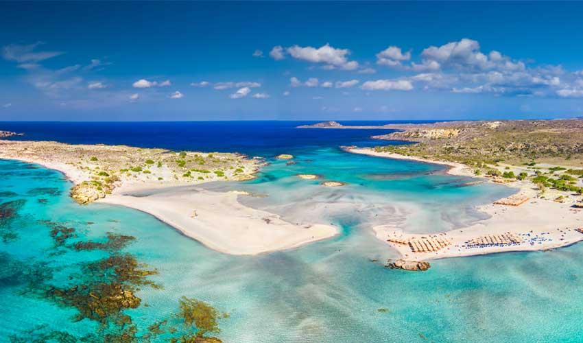 GRECE TOP A FAIRE Crete elafonissi plage sable rose